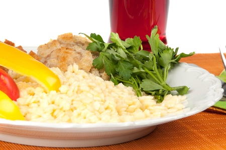 Lunch is rice with chop parsley and Stock Photo - 13055714