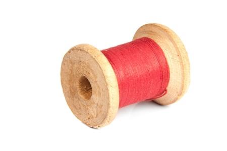 bobbin: bobbin red on white background