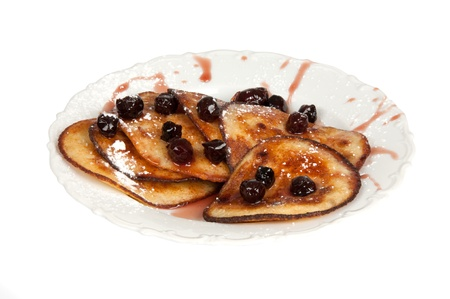 pancakes with cherry jam