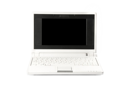 netbook on the white background Stock Photo - 16440396