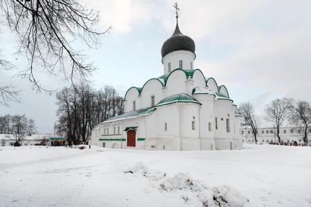 vladimir: City Alexandrov, Vladimir region. Monastery Alexander Sloboda. Trinity Cathedral Stock Photo