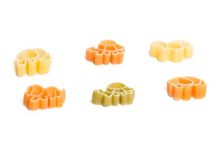 animal figurines: Animal figurines pasta on a white background