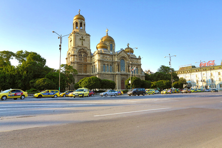 architecture monumental: The Cathedral of the Assumption in Varna, Bulgaria. Completed in 1886