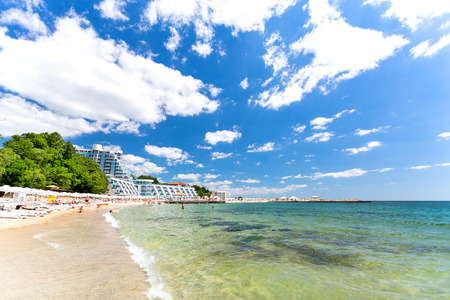 Varna beach on Black sea in Bulgaria