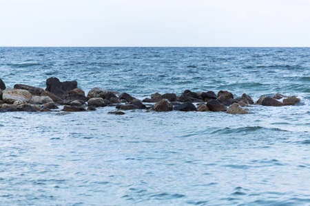 'black sea': black sea waves Stock Photo