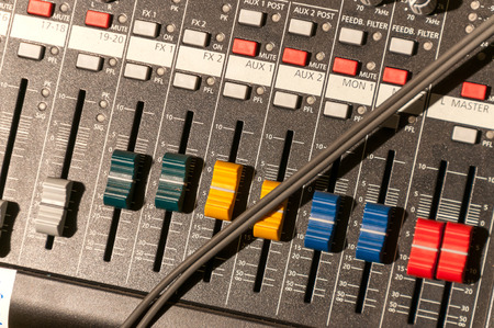 console: audio mixing console