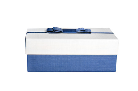 blue box on a white background