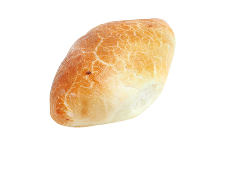 Homemade pasty isolated on white background Standard-Bild