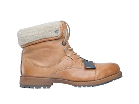 winter boots on a white background Standard-Bild