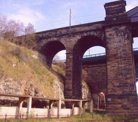 Arches under Wearmouth Bridge, Sunderland Stock Photo - 11239862