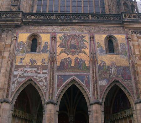 vitus: Detail from St Vitus Cathedral, Prague