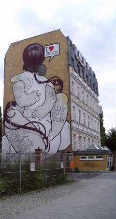 gorbachev: Graffiti in Friedrichshain, Berlin