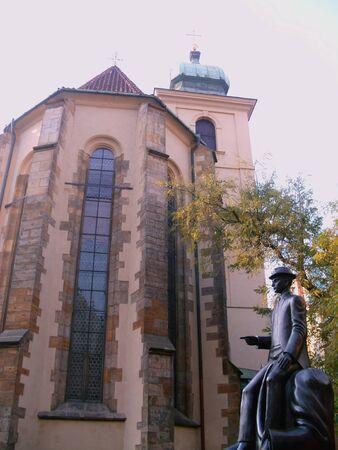 franz: Franz Kafka Statue and Spanish Synagogue, Prague Editorial