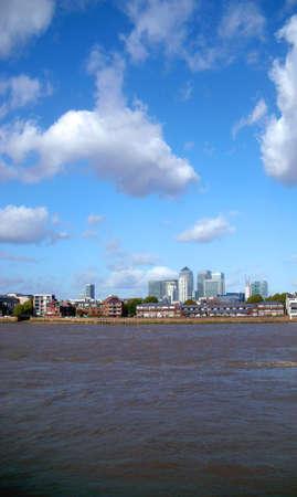 greenwich: Thames Skyline From Greenwich, London