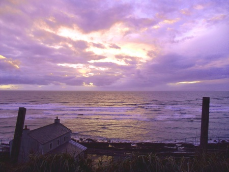 Sunset over the Irish Sea from Cumbria Stock Photo - 19665776