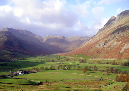 Langdale in Cumbria, England Stock Photo