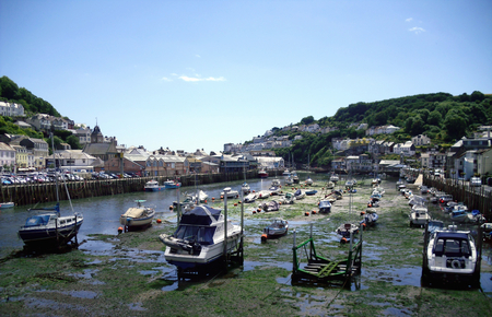 Boats at Looe Marina in Cornwall Stock Photo - 60471643