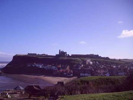 north yorkshire: View of Whitby Town and Abbey, North Yorkshire