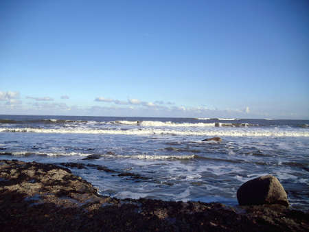 Rocky Beach at Robin Hood's Bay, North Yorkshire Stock Photo - 61094043