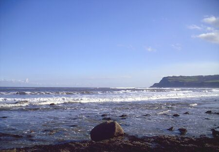 Rocky Beach at Robin Hood's Bay, North Yorkshire Stock Photo - 61094048