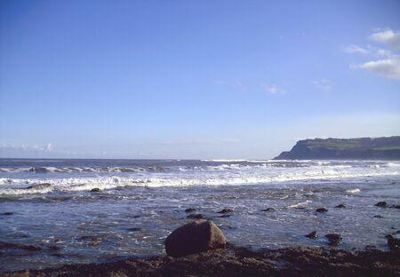 north yorkshire: Rocky Beach at Robin Hoods Bay, North Yorkshire