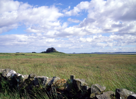 Castle at the Holy Island of Lindisfarne in Northumberland