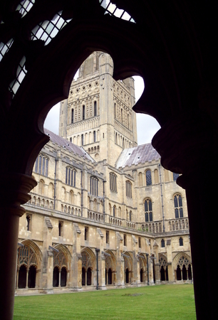 View of Norwich Cathedral Framed by a Window Stock Photo - 76933108