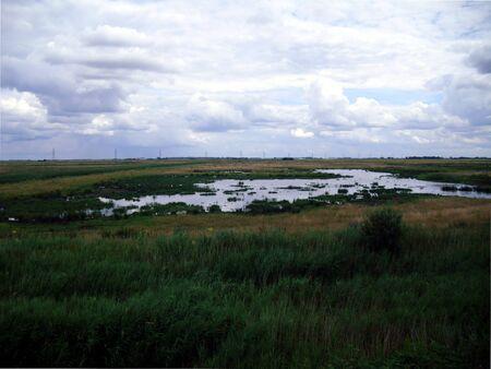 Marsh Landscape at Welney Nature Reserve in Norfolk Stock Photo - 76953182