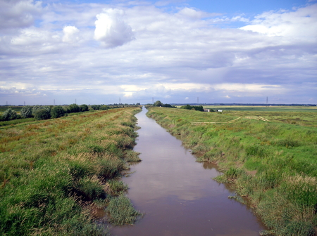 New Bedford River at Welney Nature Reserve in Norfolk Stock Photo - 77150145
