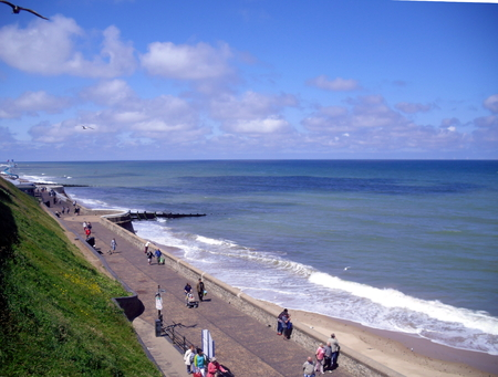 The Promenade in Sunshine at Cromer, Norfolk Stock Photo