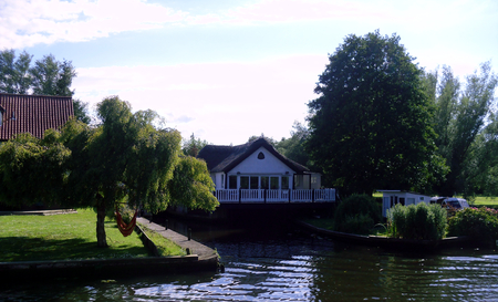 The Norfolk Broads From the Water Taken Near Hoveton and Wroxham Editorial