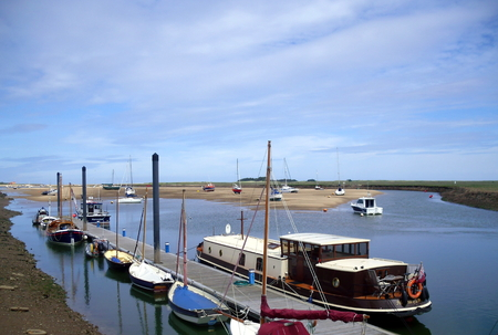 East Fleet Estuary at The Quay in Wells-next-the-Sea in Norfolk Stock Photo