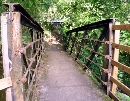 Old Iron Footbridge in Frosteley, Weardale, County Durham