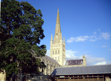 Norwich Cathedral Church of the Holy and Undivided Trinity Stock Photo