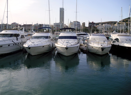 Boats at Alicante Marina, Costa Blanca, Spain