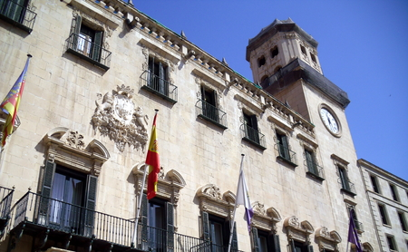 Alicante Town Hall Including Clock Tower, Spain