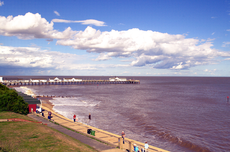 Southwold Pier in Suffolk, Taken from the Town Stock Photo
