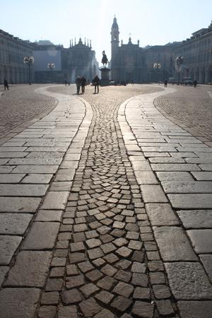 female stone path