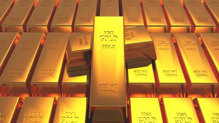 Goldbarren. Standard-Bild - 85677364