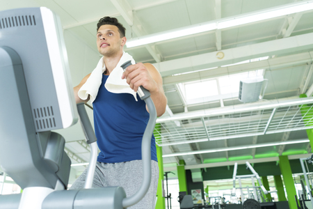 The man in the cardio apparatus