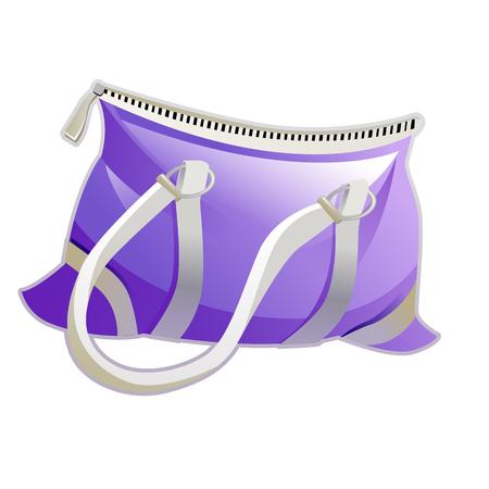 clutch cover: Vector illustration blue fashion clutch bag. Clutch purse. Evening bag