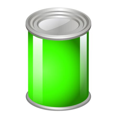 tincan: Tincan Metal Tin Can, Canned Food. Ready For Your Design. Product Packing Vector EPS10