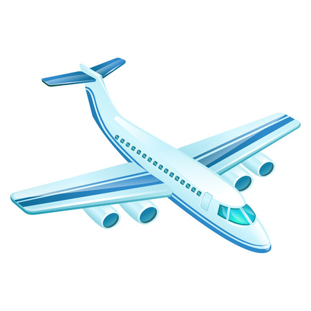 undercarriage: Airplane vector illustration isolated on white background