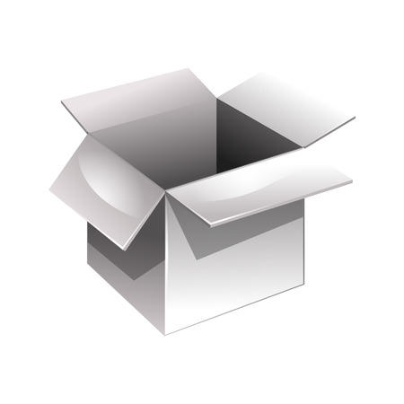 stockpile: Open box. Vector illustration. isolated on white background Illustration