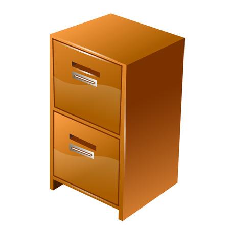 teak: Illustration of isolated drawers