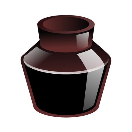 crotchet: Brown Glass Ink. Vector EPS10 Illustration.