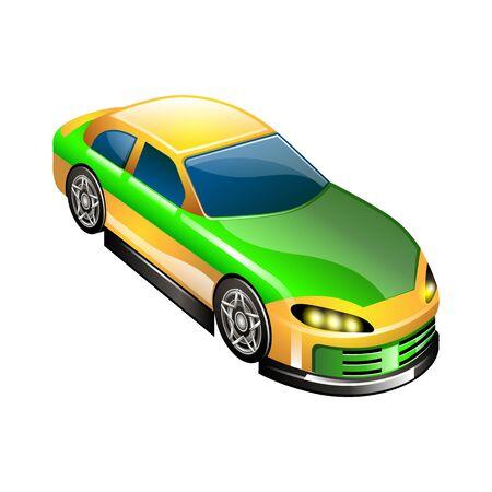 ergonomic: vector illustration of a sports car
