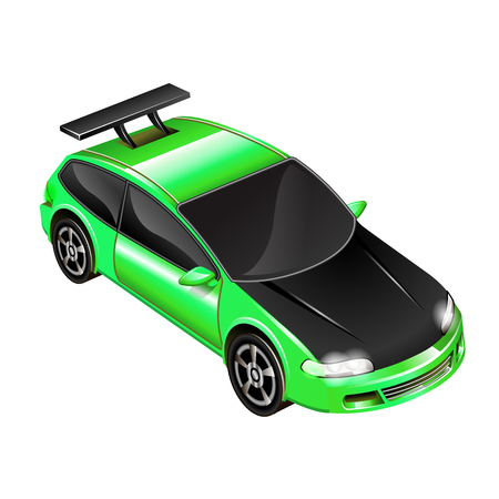 vector illustration of a sports car