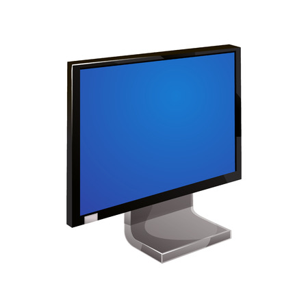 display: computer monitor display isolated