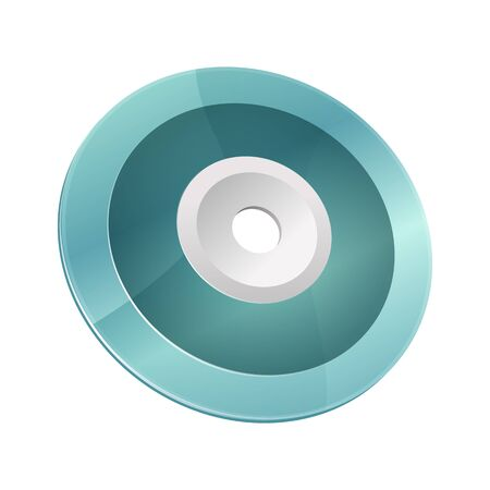 Blue-ray, DVD or CD disc. Vector illustration Illustration